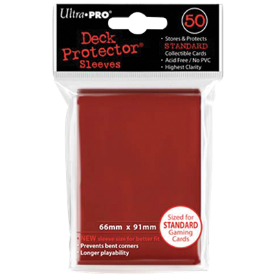 Ultra PRO : 50 sleeves Standard Rouge