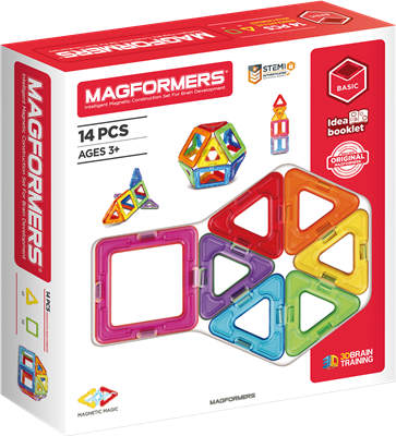 Magformers : Basic Set 14 pièces (blanc)