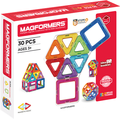 Magformers : Basic Set 30 pièces (blanc)